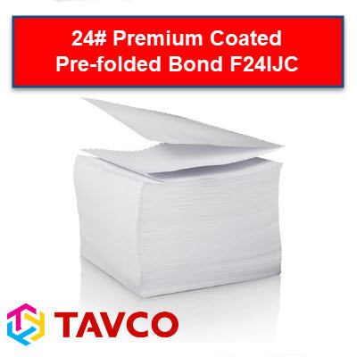 Folded Printer Paper - Well Log - 24LB Premium Coated Packs