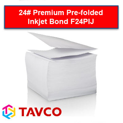 Folded Printer Paper - Well Log - 24LB Premium Inkjet Packs - F24PIJ90300P6 - TAVCO