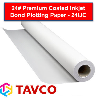 24# Premium Coated Inkjet Bond Plotting Paper - 24IJC