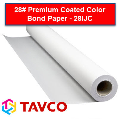 28# Premium Coated Inkjet Bond Plotting Paper - 28IJC - 28IJC24150 - TAVCO