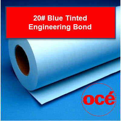 Oce 20# Tinted Engineering - 45111XR Plotter Paper