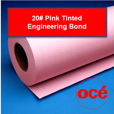 Oce 20# Pink Tinted - 45111X Plotter Paper