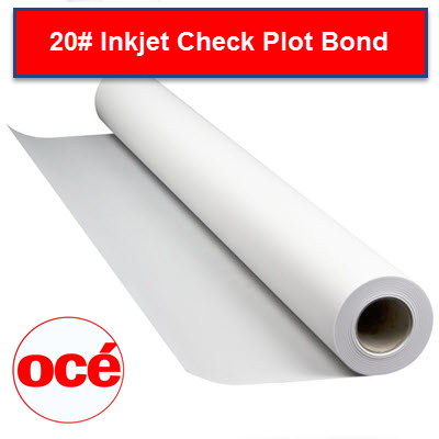 Oce 20# Inkjet Bond - Check Plot - 2 inch core Plotter Paper