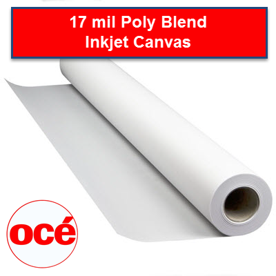 Oce 17 mil Poly Blend Canvas - Aqueous Inkjet - CAN17 - CAN1724100 - TAVCO