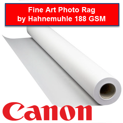 Fine Art Photo Rag by Hahnemuhle - 188 GSM - 0835V***