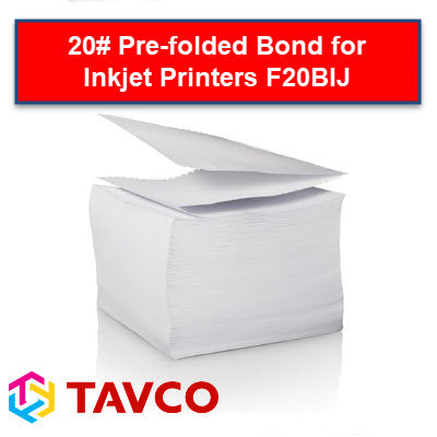 Folded Printer Paper - Well Log - 20lb Bright White Inkjet Packs - F20BIJ90300P6 - TAVCO
