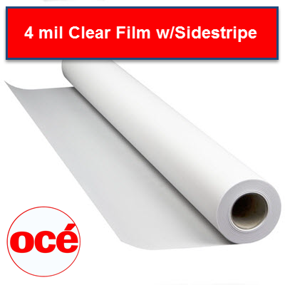 Oce 4 mil Clear film with sidestripe - FC1050000*