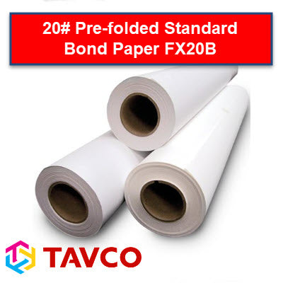 Folded Printer Paper - Well Log - 20lb Xerographic Rolls - FX20B90500R6 - TAVCO