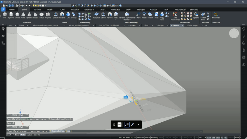 BricsCAD PRO for 2D and 3D modeling