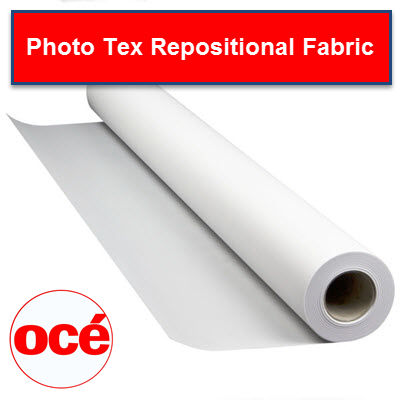 Oce Photo Tex Inkjet Fabric - Repositionable PSA - PHTX