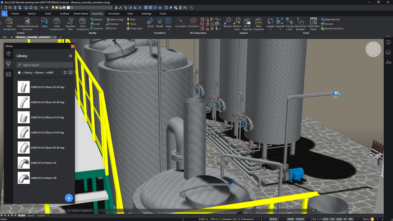 BricsCAD Mechanical for Assembly Modeling