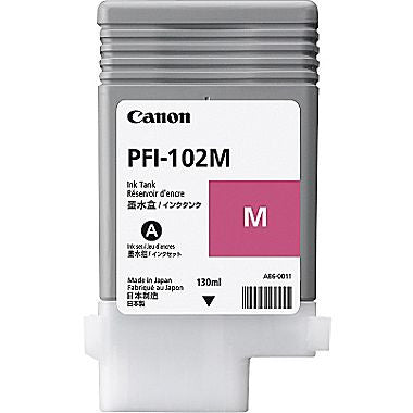 Canon PFI-102M - Magenta Ink (130ml) - 0897B001AA ***CLEARANCE***