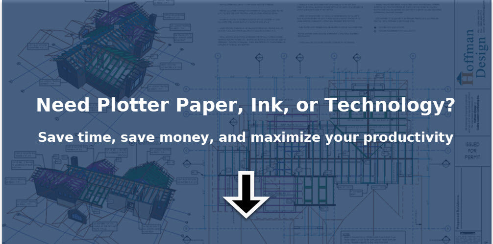 plotter paper, plotter ink, and supplies for Canon and Oce plotters