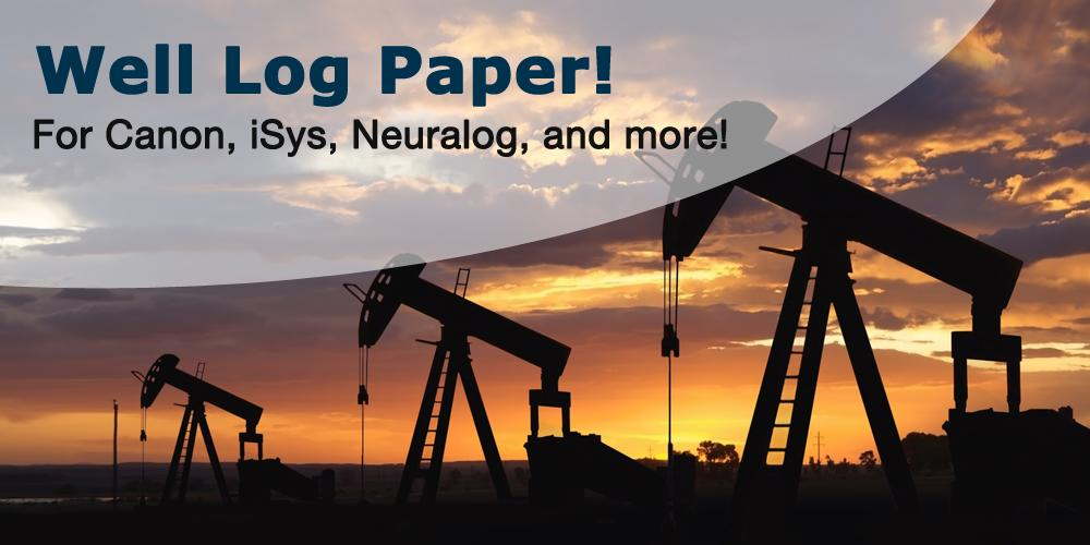 well log paper for oil and gas - in stock and ready to ship