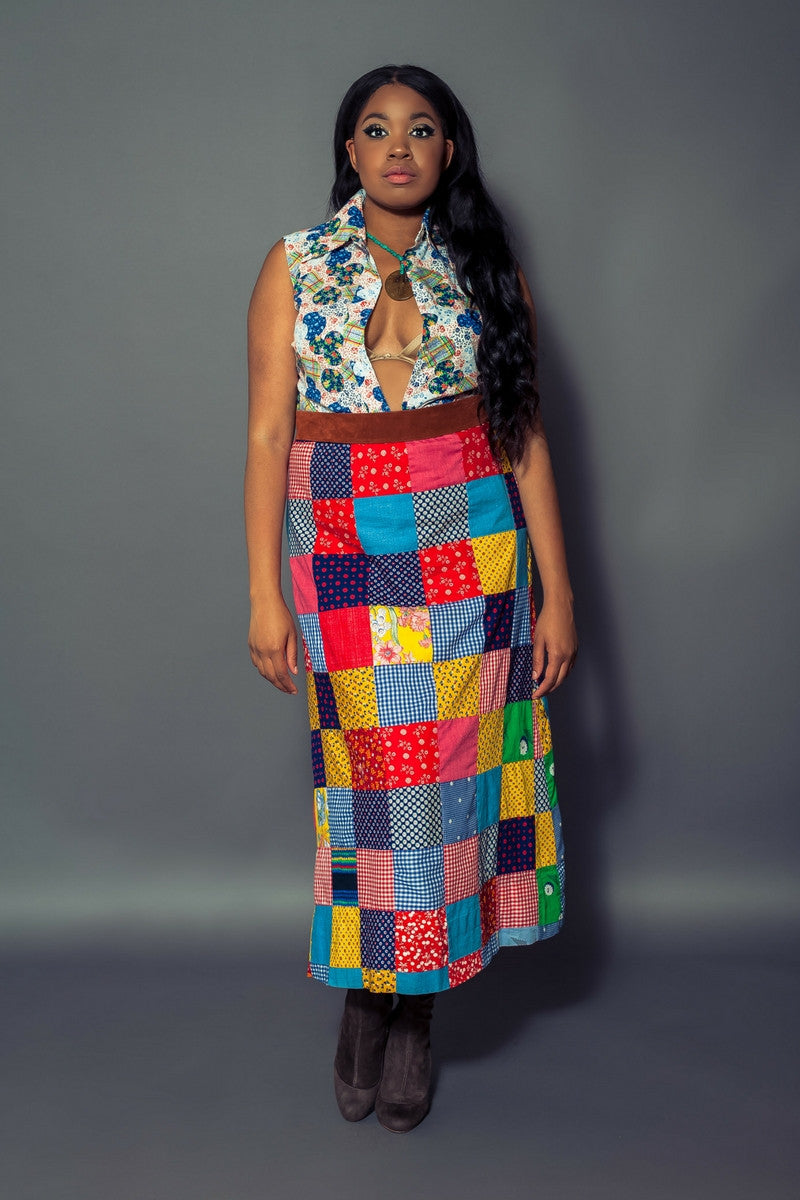 Patchwork Maxi Skirt for Not Your Mama's Vintage by Create.Restore