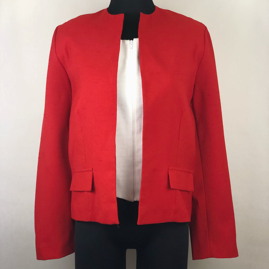 Vintage Red Bolero Style Jacket by Jeanne Durrell for the Lorch Company