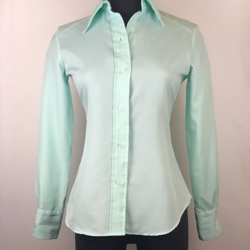 Vintage L/S Mint Green Tapered Button Down Shirt by John Meyer
