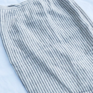 Vintage Linen Striped Pencil Skirt