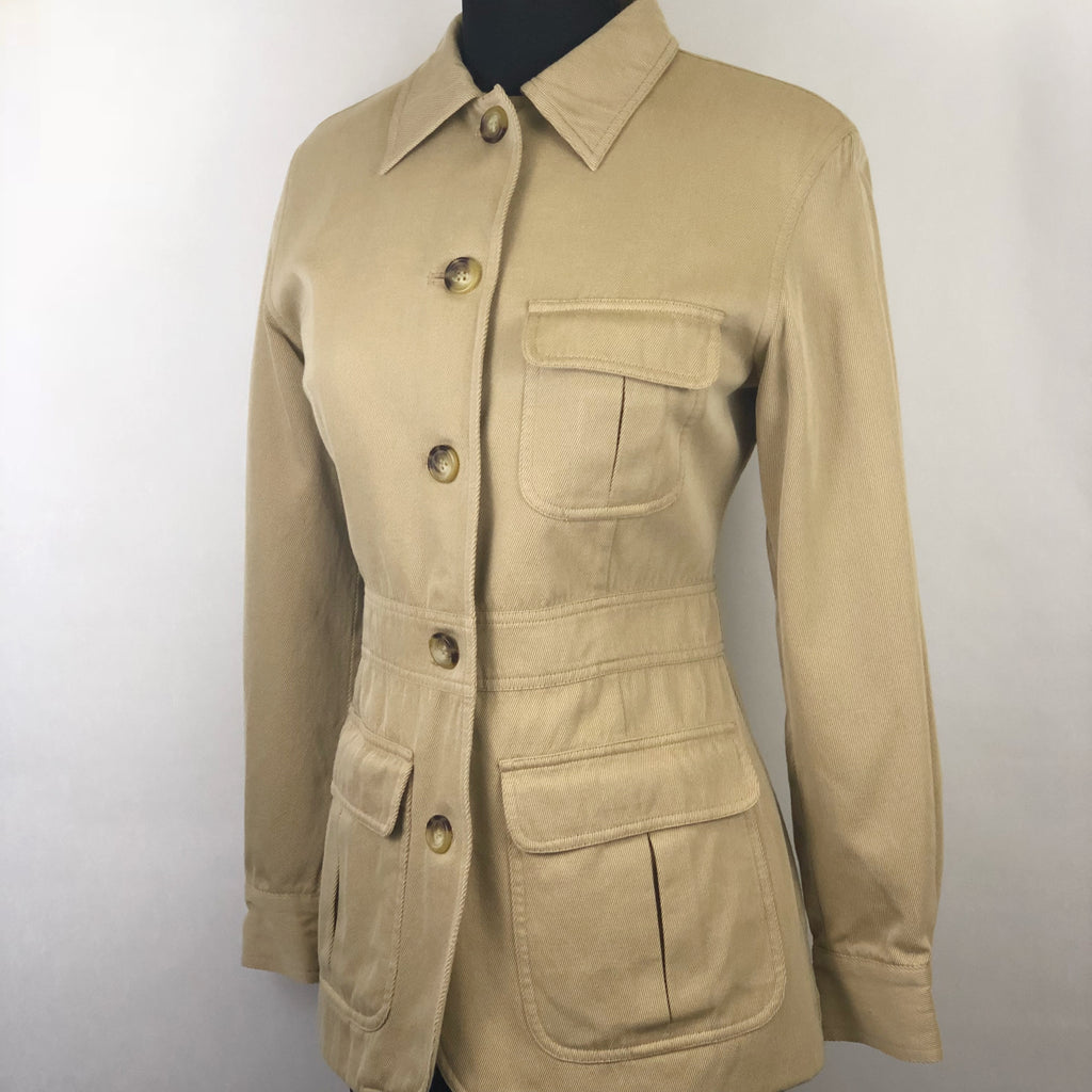 Vintage Tan Safari Jacket by Jones New York Country