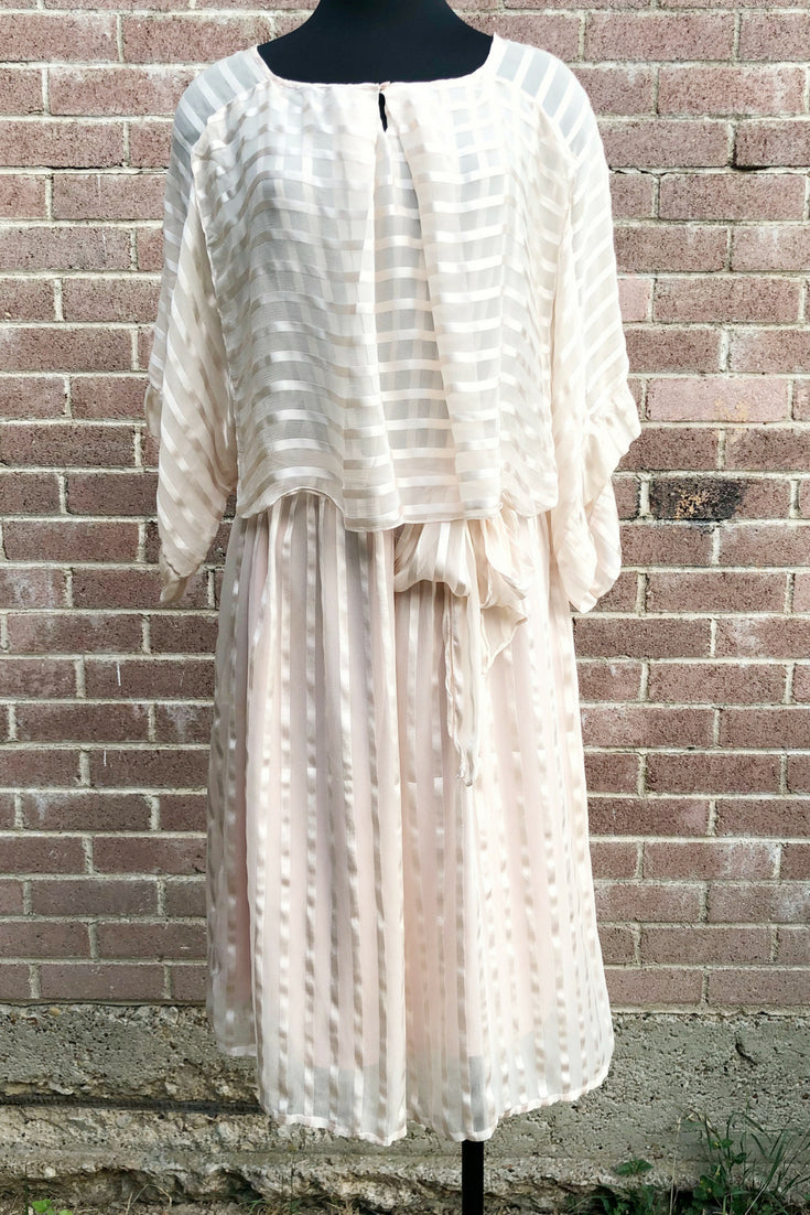 Vintage Striped A-Line Dress by the Silk Farm