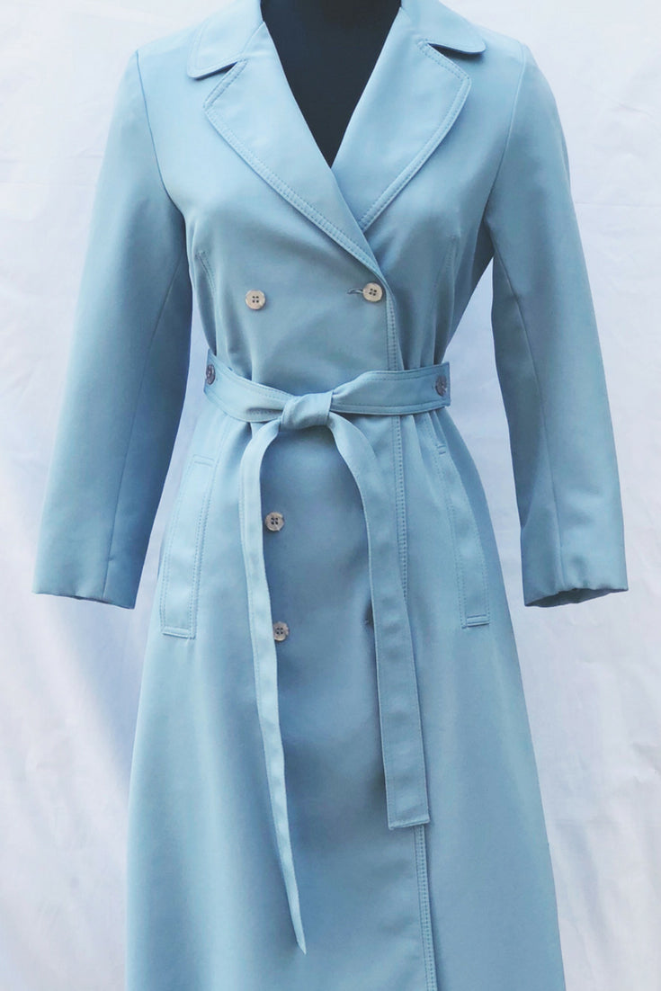 Vintage Tie Waist Double Breasted Trench Coat