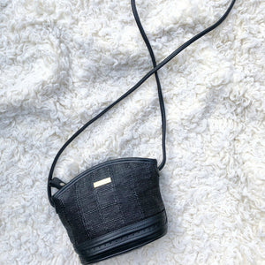 Vintage Woven Mini-Cross Body Purse by Liz Claiborne