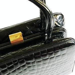 Vintage Faux Alligator Handbag Purse