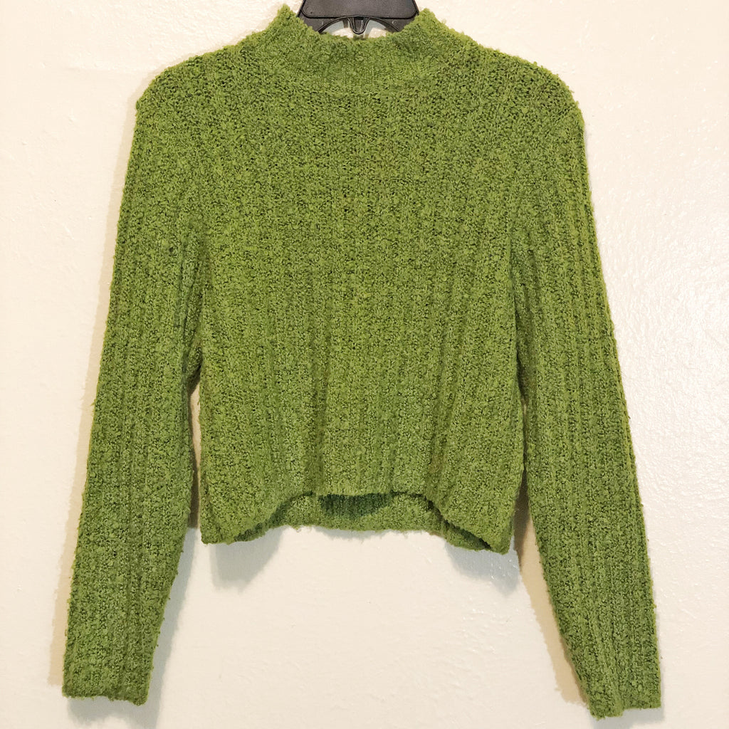 Vintage Cropped Mock Neck Sweater by Jamie Scott