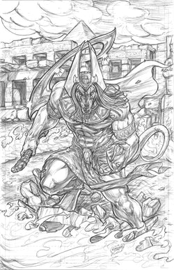 Penny For Your Soul #7 Anubis Cover - Original Pencils