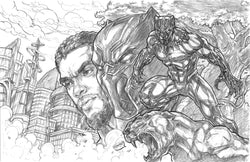 Black Panther (Wakandan Warrior) - Original Pencils
