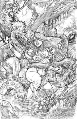 Jungle Girl - Original Pencils