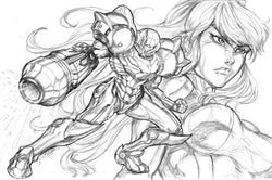Samus/Metroid - Original Pencils
