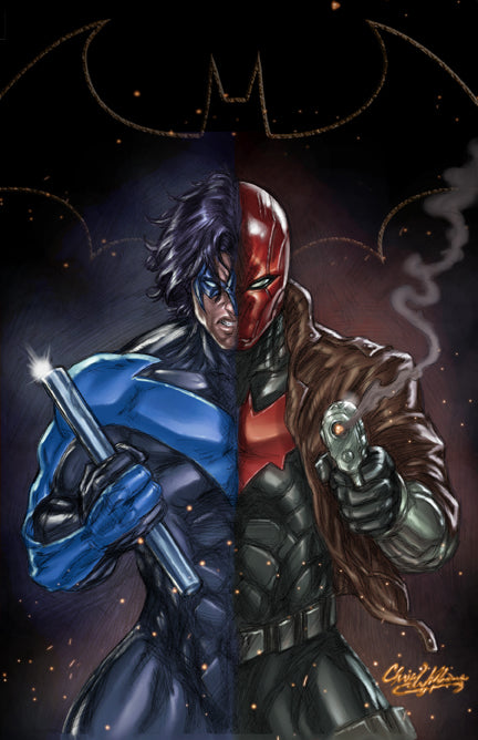 Nightwing V Redhood Print - 11x17