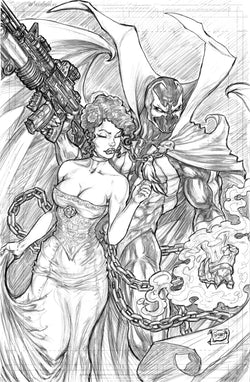 Spawn & Wanda - Original Pencils