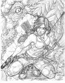 Tomb Raider - Original Pencils