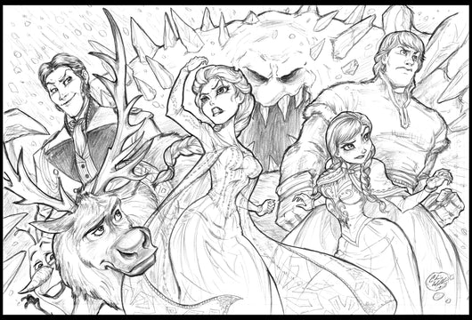 Frozen Print - Original Pencils