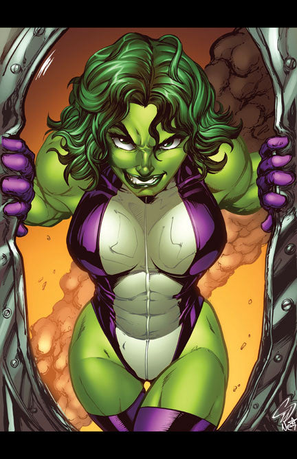 She-Hulk Colored by Nei Ruffino Print - 11x17