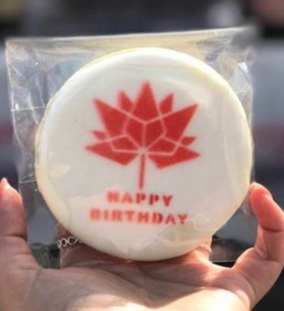 Peter Piper's Custom Logo Canada 150 Years Old Celebration Cookies