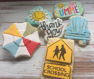 Lorraine's Cookies Crossing Guard Thank You Cookies
