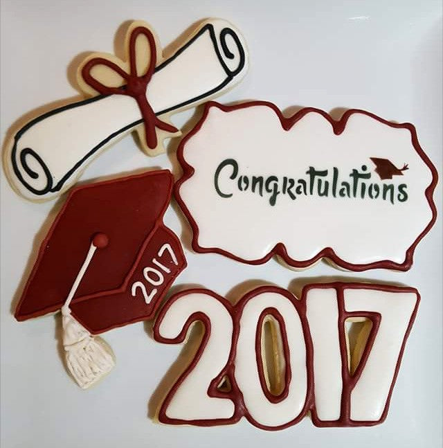 Kim's Congratulations Plaque Cookie