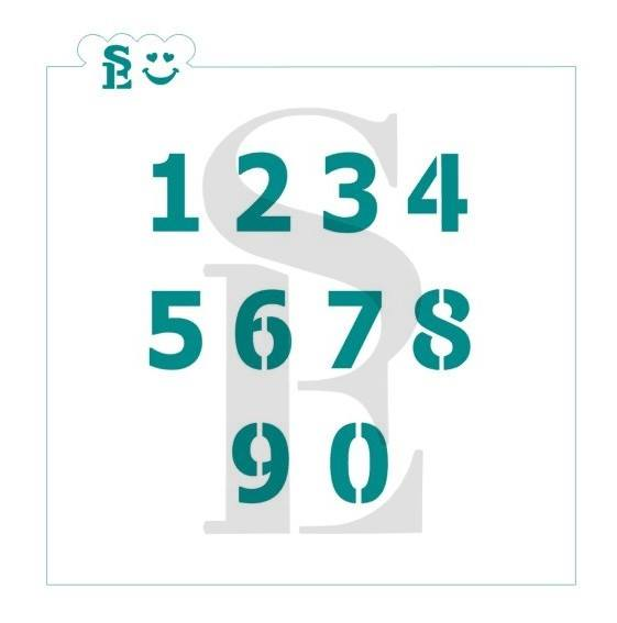 Numbers #1 Standard Stencil for Cookies, Cakes & Culinary
