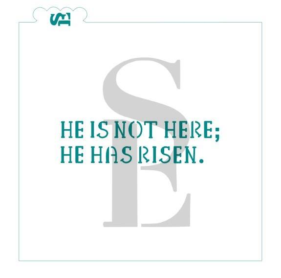 He is Not Here; He is Risen #2 Digital Design Cookie Stencil