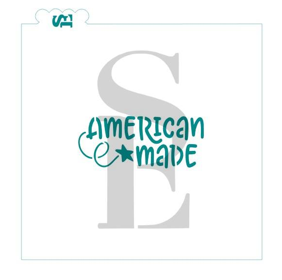 American Made Sentiment Digital Design Cookie Stencil