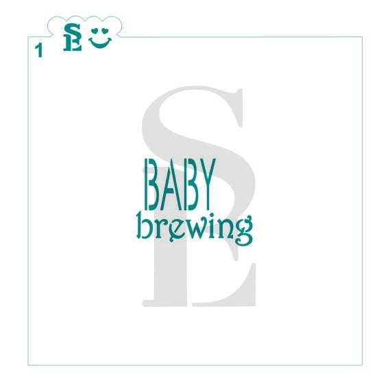 Baby Brewing #1 Stencil for Cookies, Cakes & Culinary