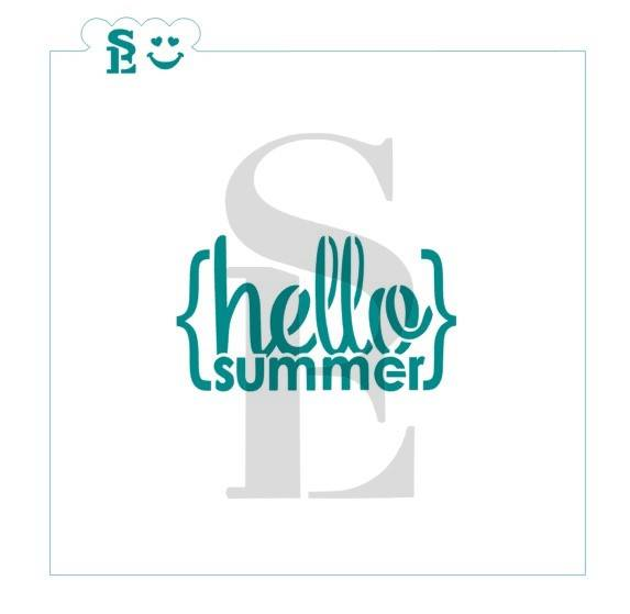 Hello Summer Stencil for Cookies, Cakes & Culinary