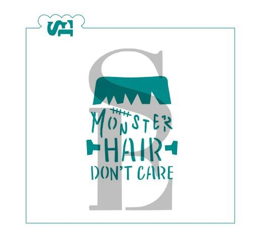 Monster Hair Don't Care Digital Design Cookie Stencil