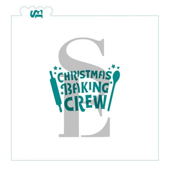 Christmas Baking Crew Stencil for Cookies, Cakes & Culinary *Digital Download