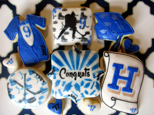 Hockey Background Stencil for Cookies, Cakes & Culinary