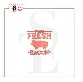 Country Barnyard Sign, Pig/Bacon, Stencil for Cookies, Cakes & Culinary
