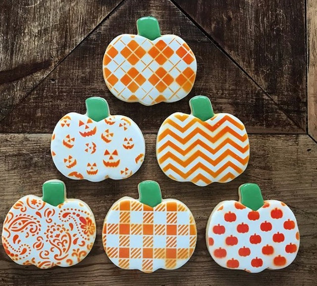 Jack-O-Lantern Background Digital Download Cookie Stencil Cookies by Sugar Mama Cookie Designer